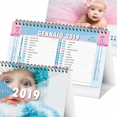 Calendario da tavolo 2019 a spirale personalizzato bambini - Calendari da tavolo 2018 ...
