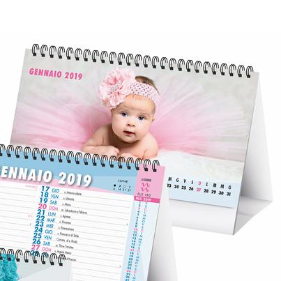 Calendario da tavolo 2019 a spirale personalizzato bambini - Calendari da tavolo con foto ...