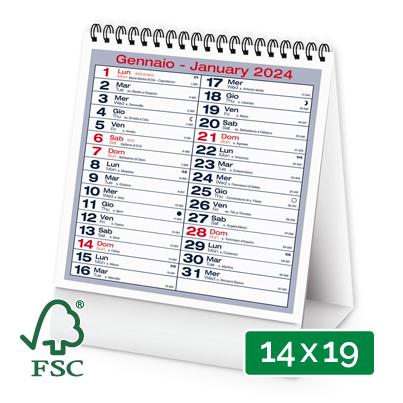 Calendario 2019 da tavolo modello verticale personalizzato - Calendario 2017 da tavolo ...
