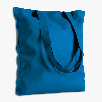 Borsa shopping colorata in cotone 38 x 42